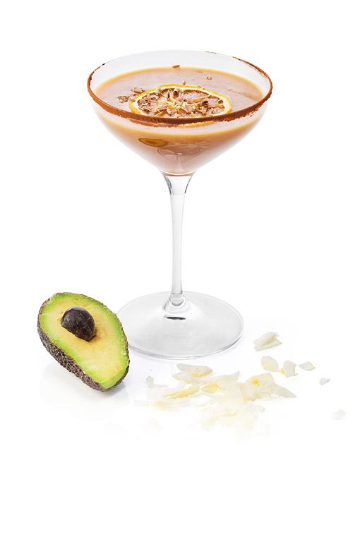 Avokado-tini kahvicocktail